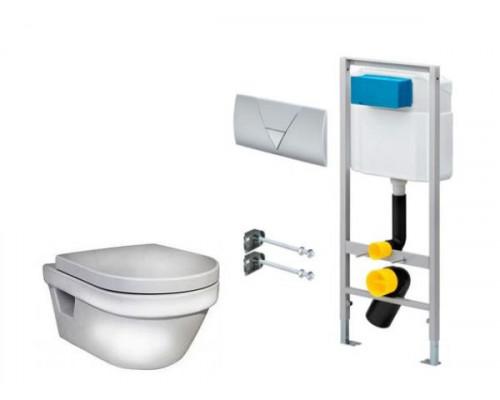 Унитаз подвесной 5G84HR01 Gustavsberg Hygienic Flush WWS и инсталляция Viega