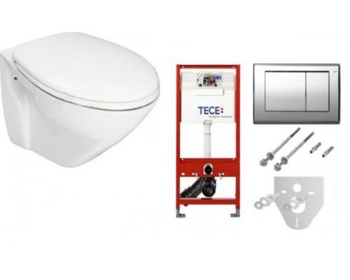 Комплект TECE унитаз 11093400 и инсталляция с панелью смыва K400321WC