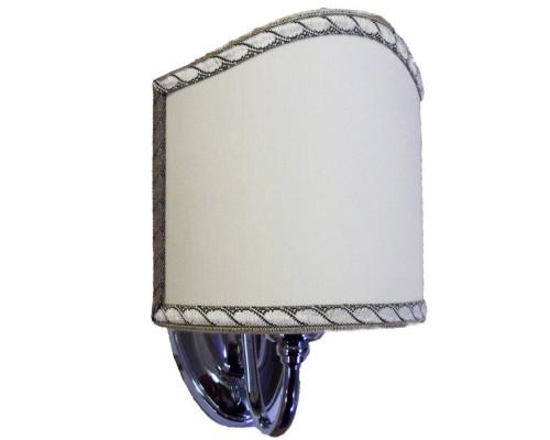 Бра Tiffany World Barocco 1328cr цвет: хром, абажур ткань: светло-бежевый