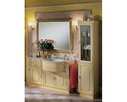 Комплект мебели для ванной комнаты Lineatre Silver