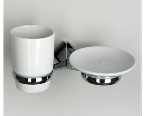 Держатель стакана и мыльницы Wasserkraft Aller K-1126C