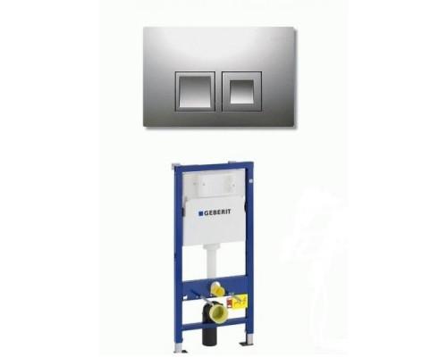 Инсталляция для подвесного унитаза 2 в 1 Geberit Duofix 458.103.00.1 с 115.135.21.1