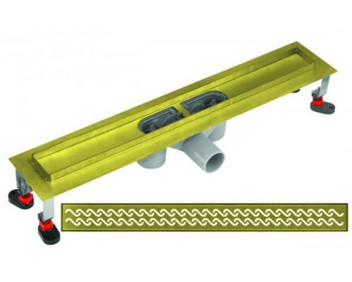 Трап для душа линейный Gllon DA660/FH600 бронза, 60 см