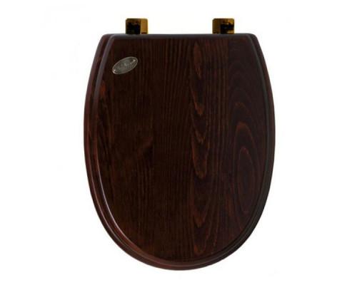 Крышка-сиденье микролифт Simas Arcade AR009noce/br, дерево/бронза