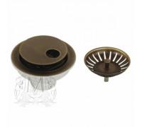 Слив для кухонной мойки Migliore Ricambi ML.RIC-10.131.BR с крышкой, бронза