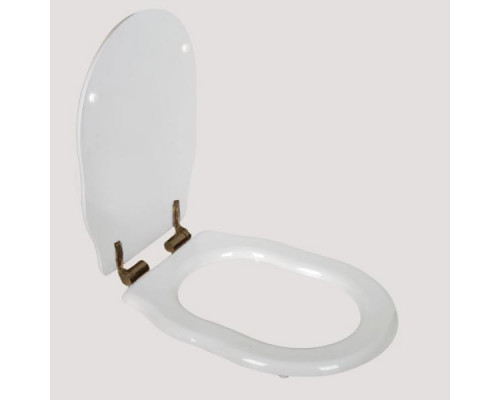Крышка-сиденье Tiffany World Bristol TWBR66bi/br цвет белое/бронза