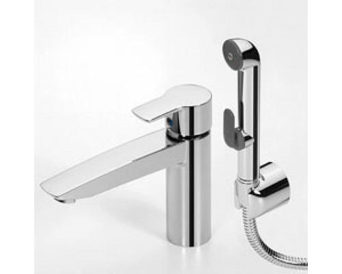 Смеситель Oras Cubista 2806 для раковины с гигиеническим душем