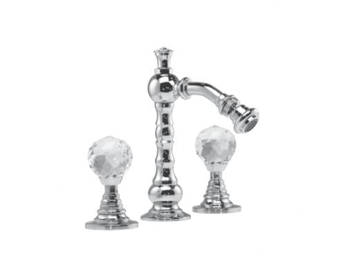 Двухвентельный смеситель для биде Lineatre Cristal