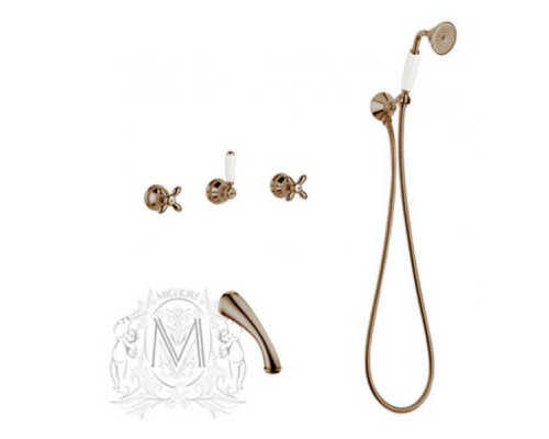 Смеситель Migliore Princeton Plus ML.PRP-8018BR для ванны с душем