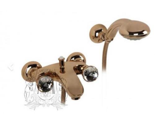 Смеситель Migliore Korona Swarovski ML.KRN-4702BR для ванны с душем