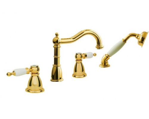 Смеситель Boheme Oro 395 для ванны с душем