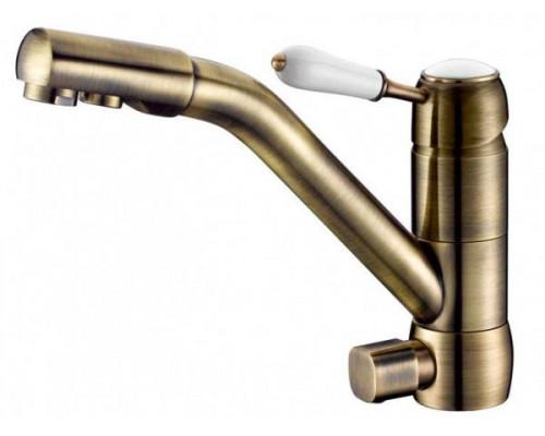 Смеситель ZorG  ZR 400 KF-46-BR для кухни однорычажный