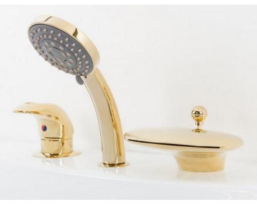 Cмеситель Alpen Niagara Delux AS1104G на борт ванны, золото