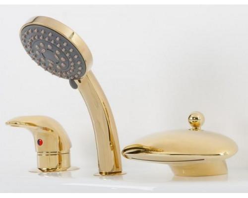 Cмеситель Alpen Niagara AS1004G на борт ванны, золото