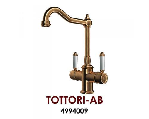 Смеситель Omoikiri Tottori-АB, 4994009 для кухонной мойки, медь