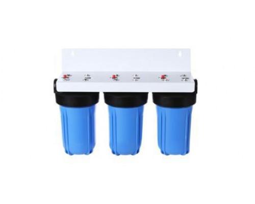 Магистральный 3-ой фильтр Аквастиль   10 BB  с картриджем  (Cиняя колба)