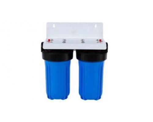 Магистральный 2-ой фильтр  Аквастиль   10 BB  с картриджем  (Cиняя колба)