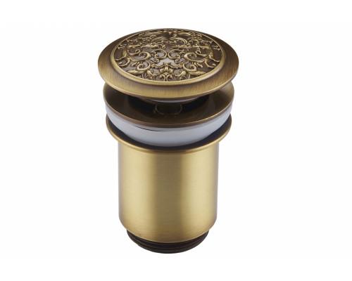 Гидро стоп, сливной донный клапан для раковины Zorg AZR 2 BR бронза