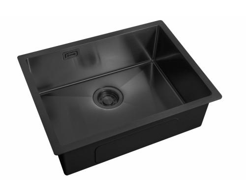 Мойка для кухни ZorG ZL R 580440 GRAFIT Steel Hammer цвет графит