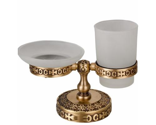 Держатель мыльницы и стакана настольный Zorg AZR 22 BR цвет бронза
