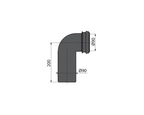 Колено 90х90 для инсталляций M908 Alca Plast