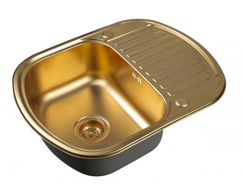 Кухонная мойка ZorG SZR-6249 BRONZE цвет бронза