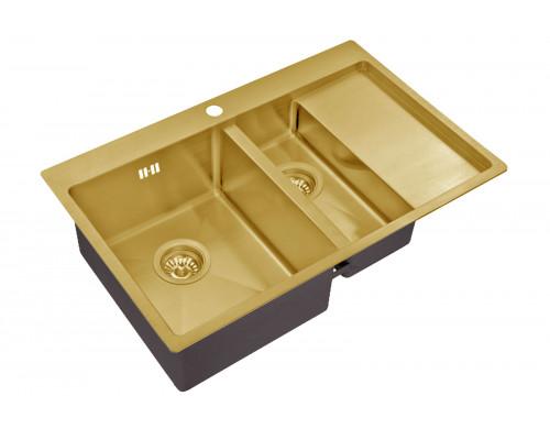 Мойка для кухни ZorG SZR 5178-2-L BRONZE цвет бронза
