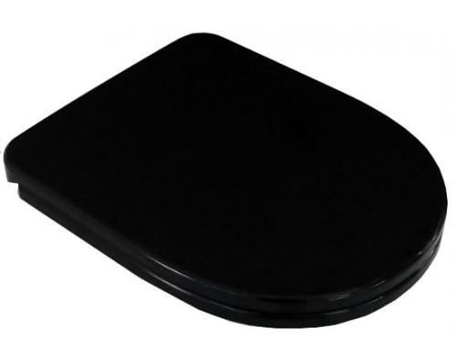 Сиденье для унитаза Best черный микролифт -
