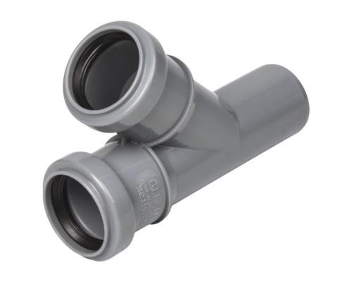 Тройник 40/45 полипропиленовый серый  Политэк