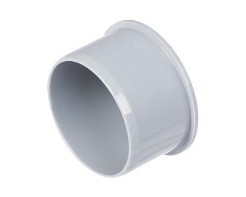 Заглушка Политэк Ø 40 мм полипропиленовая серая
