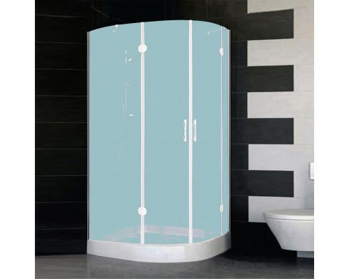 AFS-F 11090 01 10L Vegas AFS-F Душевой уголок асимметричный, в левый угол, размер 90x110 см., стекло сатин, профиль белый.