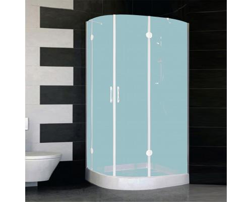 AFS-F 11090 01 10R Vegas AFS-F Душевой уголок асимметричный, в правый угол, размер 110x90 см., стекло сатин, профиль белый.