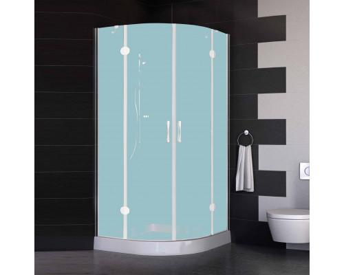 AFS 0100 01 10 Vegas AFS Душевой уголок, стеклянное ограждение четверть круга, размер 100x100 см.,  стекло сатин, профиль белый.