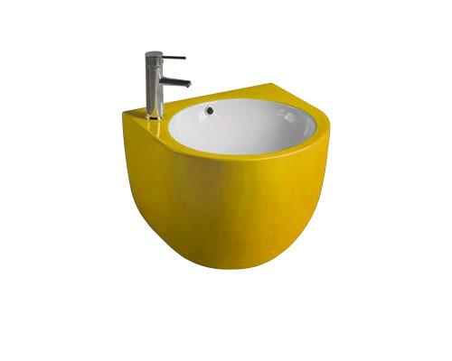 MLN-500FYW Melana Раковина подвесная, полукруглой формы, размер 49,5 см., цвет желтый.