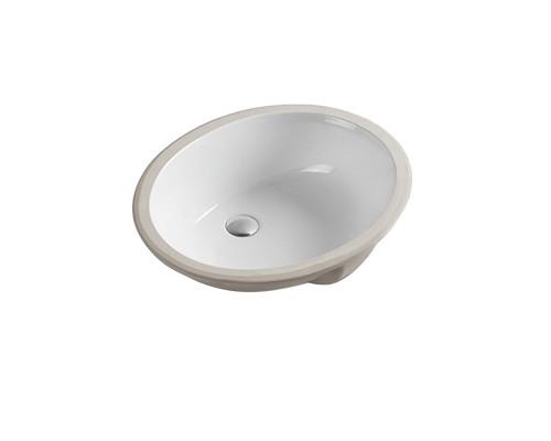 MLN-540 Melana Раковина встраеваемая снизу, овальной формы, размер 57 см., цвет белый.