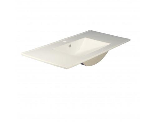 MLN-8004_1200 Melana Раковина встраеваемая сверху, форма правильная прямоугольная, размер 120 см., цвет белый.