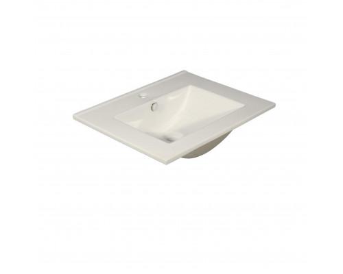 MLN-8004_600 Melana Раковина встраеваемая сверху, форма правильная прямоугольная, размер 60 см., цвет белый.