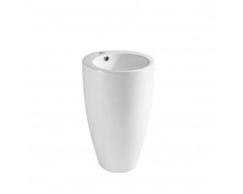 MLN-B133 Melana Раковина напольная, форма колонна, размер 51 см., цвет белый.
