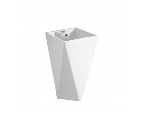 MLN-B156 Melana Раковина напольная, форма ромбовидная, размер 47,5 см., цвет белый.