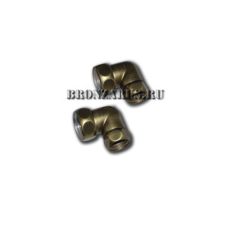 85-007BZ Fitting Угловое подсоединение для полотенцесушителя, бронза. 1x3/4 Гайка-Гайка.