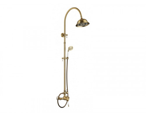 Душевая система Faenza Aksy Bagno верхний душ 200 мм., бронза