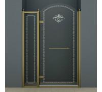 RETRO-B-12-120-CP-Br-L(-R) Cezares RETRO B-12 Cezares Душевая дверь в проем, бронза.