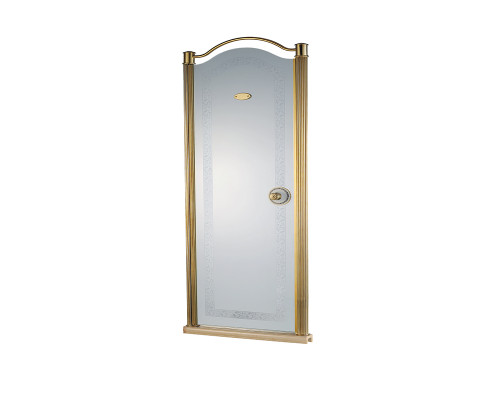 31002001L-900 Schein Дверь в нишу, распашная, стекло декор, профиль бронза.
