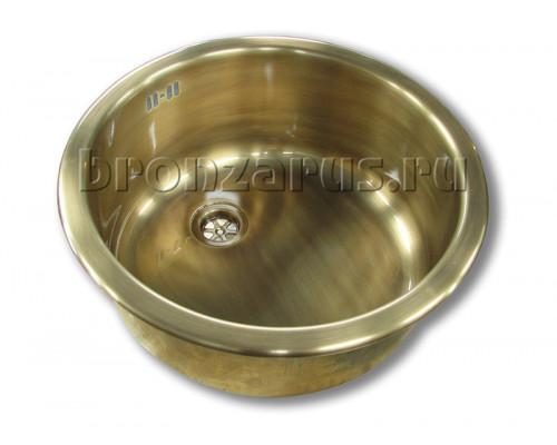 Мойка кухонная Reginox R18 370 (42х15х42 см) врезная, в бронзе