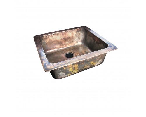BS-034-AG bronze Elix Мойка для кухни, из литой бронзы, цвет состаренная бронза.
