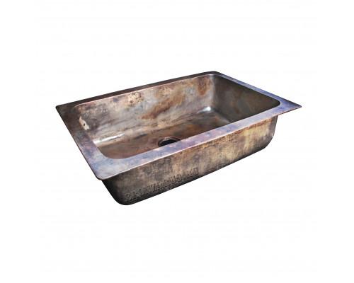 BS-035-AG bronze Elix Мойка для кухни, из литой бронзы, цвет состаренная бронза.