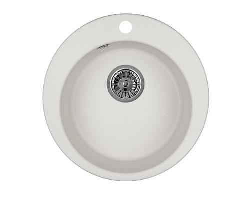 GR-4801 Granula Мойка кухонная врезная, материал гранит стандарт, цвет белый арктик.
