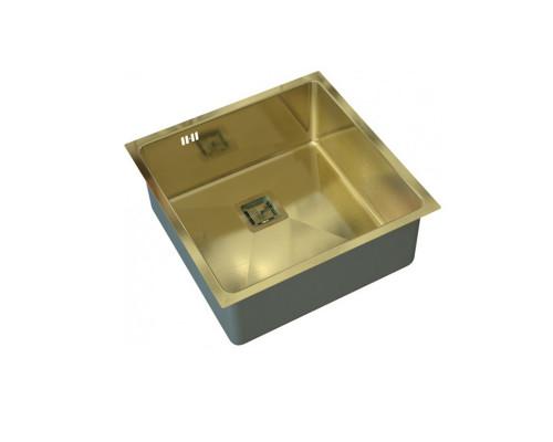 """SZR-44 bronze Zorg Inox Мойка для кухни, из """"нержавейки"""", цвет бронза."""