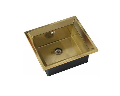 """SZR-4550 bronze Zorg Inox Мойка для кухни, из """"нержавейки"""", цвет бронза."""