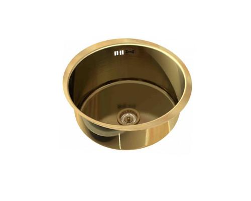 """SZR-500 bronze Zorg Inox Мойка для кухни, из """"нержавейки"""", цвет бронза."""